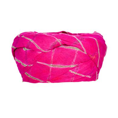 S H A H I T A J Traditional Rajasthani Cotton Pink Lehariya Jodhpuri Gol Pheta Pagdi Safa or Turban for Kids and Adults (RT528)-18-4