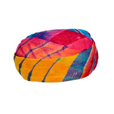 S H A H I T A J Traditional Rajasthani Cotton Multi-Colored Lehariya Jodhpuri Gol Pheta Pagdi Safa or Turban for Kids and Adults (RT529)-18-4