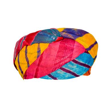 S H A H I T A J Traditional Rajasthani Cotton Multi-Colored Lehariya Jodhpuri Gol Pheta Pagdi Safa or Turban for Kids and Adults (RT529)-18-3
