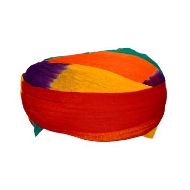 S H A H I T A J Traditional Rajasthani Cotton Multi-Colored Jodhpuri Gol Pheta Pagdi Safa or Turban for Kids and Adults (RT171)-18-3