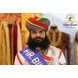S H A H I T A J Traditional Rajasthani Cotton Multi-Colored Lehariya Jodhpuri Gol Pheta Pagdi Safa or Turban for Kids and Adults (RT531)-ST651_18andHalf-sm