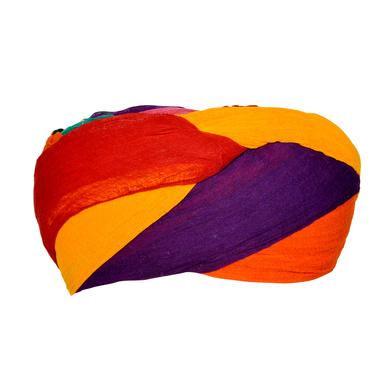 S H A H I T A J Traditional Rajasthani Cotton Multi-Colored Jodhpuri Gol Pheta Pagdi Safa or Turban for Kids and Adults (RT171)-ST251_18