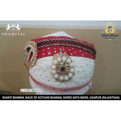 S H A H I T A J Traditional Rajasthani Cotton Mewadi Pagdi or Turban Multi-Colored for Kids and Adults (MT36)-18-3