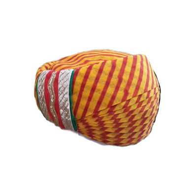 S H A H I T A J Traditional Rajasthani Cotton Mewadi Pagdi or Turban Multi-Colored for Kids and Adults (MT80)-ST158_18