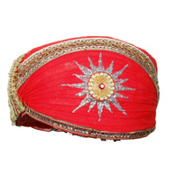 S H A H I T A J Traditional Rajasthani Cotton Mewadi Pagdi or Turban Multi-Colored for Kids and Adults (MT25)