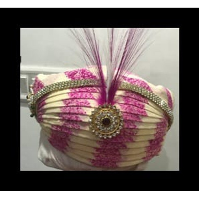 S H A H I T A J Traditional Rajasthani Cotton Mewadi Bhupalshahi Pagdi Safa or Turban Multi-Colored for Kids and Adults (MT123)-ST201_18