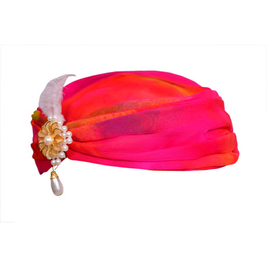 S H A H I T A J Designer Multi-Colored Silk Girls and Women Pagdi Safa or Turban for Fashion Shows & Events (DT563)-18-3