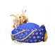 S H A H I T A J Designer Blue Brocade Kids and Adults Pagdi Safa or Turban for Fashion Shows & Events (DT569)-18-3-sm