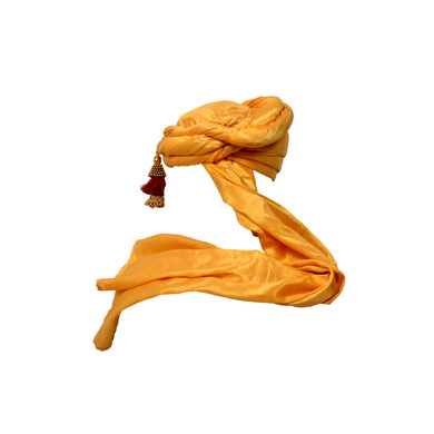 S H A H I T A J Designer Golden Silk Kids and Adults Pagdi Safa or Turban for Fashion Shows & Events (DT574)-18-4