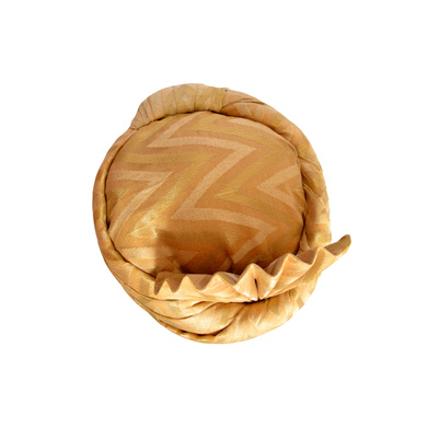S H A H I T A J Traditional Rajasthani Wedding Golden Silk Pagdi Safa or Turban for Kids and Adults (RT576)-18-4