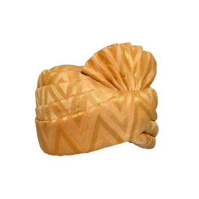 S H A H I T A J Traditional Rajasthani Wedding Golden Silk Pagdi Safa or Turban for Kids and Adults (RT576)-18-3