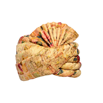 S H A H I T A J Traditional Rajasthani Wedding Multi-Colored Floral Silk Pagdi Safa or Turban for Kids and Adults (RT577)-ST701_20andHalf