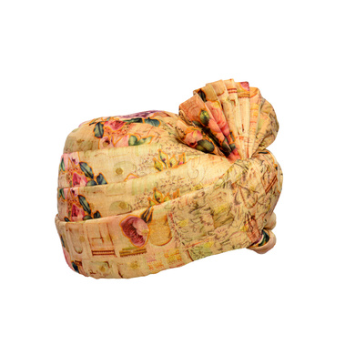 S H A H I T A J Traditional Rajasthani Wedding Multi-Colored Floral Silk Pagdi Safa or Turban for Kids and Adults (RT577)-18-3
