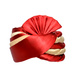 S H A H I T A J Traditional Rajasthani Wedding Red & Cream Satin Pagdi Safa or Turban for Kids and Adults (RT579)-ST703_23andHalf-sm
