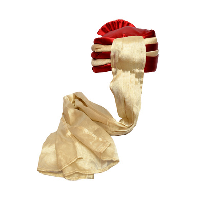S H A H I T A J Traditional Rajasthani Wedding Red & Cream Satin Pagdi Safa or Turban for Kids and Adults (RT579)-18-4