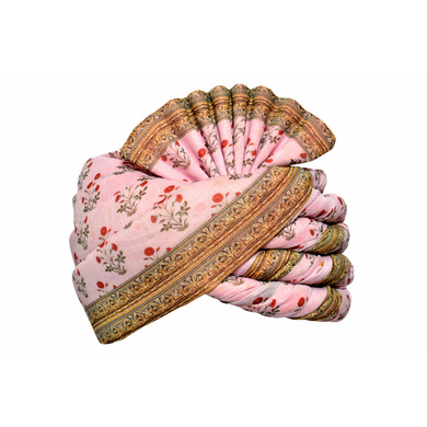 S H A H I T A J Traditional Rajasthani Wedding Multi-Colored Floral Pagdi Safa or Turban for Kids and Adults (RT583)-ST707_20andHalf