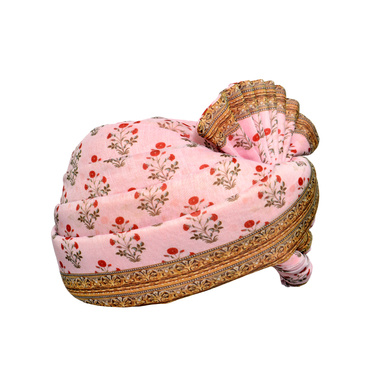 S H A H I T A J Traditional Rajasthani Wedding Multi-Colored Floral Pagdi Safa or Turban for Kids and Adults (RT583)-18-3