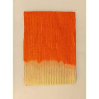 S H A H I T A J Traditional Rajasthani Orange & Cream Barati/Groom/Social Occasions Straight Line Zari Cotton Pagdi Safa Turban or Pheta Cloth for Kids and Adults (CT593)