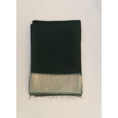 S H A H I T A J Traditional Rajasthani Bottle Green Social Occasions or Condolences Cotton Mewadi Pagdi or Turban Cloth for Kids and Adults (MT595)-ST719