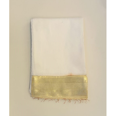 S H A H I T A J Traditional Rajasthani White Social Occasions or Condolences Cotton Mewadi Pagdi or Turban Cloth for Kids and Adults (MT597)-ST721