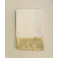 S H A H I T A J Traditional Rajasthani White Social Occasions or Condolences Cotton Mewadi Pagdi or Turban Cloth for Kids and Adults (MT597)