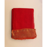 S H A H I T A J Traditional Rajasthani Red Barati/Groom/Social Occasions Cotton Mewadi Pagdi or Turban Cloth for Kids and Adults (MT598)
