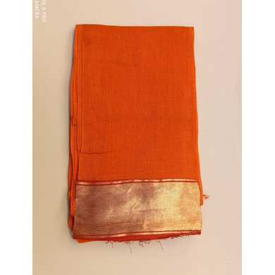 S H A H I T A J Traditional Rajasthani Orange Barati/Groom/Social Occasions Cotton Mewadi Pagdi or Turban Cloth for Kids and Adults (MT599)-ST723