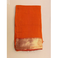 S H A H I T A J Traditional Rajasthani Orange Barati/Groom/Social Occasions Cotton Mewadi Pagdi or Turban Cloth for Kids and Adults (MT599)