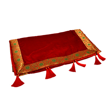 S H A H I T A J Traditional Rajasthani Wedding Red Velvet Stole/Dupatta/Shawl for Groom or Dulha (DS603)-ST727