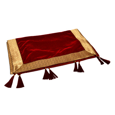 S H A H I T A J Traditional Rajasthani Wedding Red Velvet Stole/Dupatta/Shawl for Groom or Dulha (DS604)-ST728