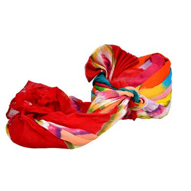 S H A H I T A J Traditional Rajasthani Jodhpuri Cotton Multi-Colored Wedding Groom or Dulha Pagdi Safa or Turban for Kids and Adults (RT605)-18.5-4