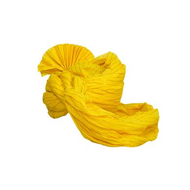 S H A H I T A J Traditional Rajasthani Jodhpuri Cotton Yellow Wedding Groom or Dulha Straight Line Pagdi Safa or Turban for Kids and Adults (RT606)-18-4