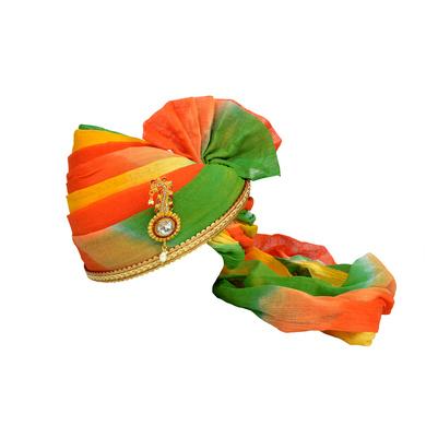 S H A H I T A J Traditional Rajasthani Jodhpuri Cotton Multi-Colored Wedding Groom or Dulha Pagdi Safa or Turban for Kids and Adults (RT607)-ST731_19