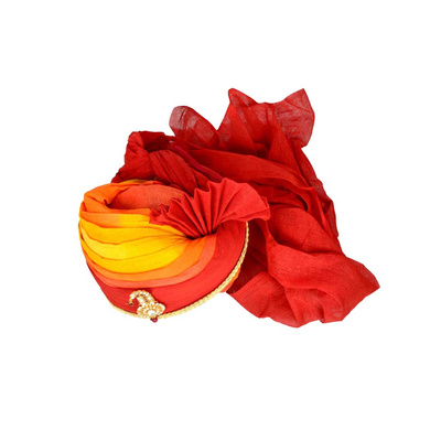 S H A H I T A J Traditional Rajasthani Jodhpuri Cotton Multi-Colored Wedding Groom or Dulha Pagdi Safa or Turban for Kids and Adults (RT614)-18-3
