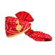 S H A H I T A J Traditional Rajasthani Jodhpuri Cotton Red Bandhej Wedding Groom or Dulha Pagdi Safa or Turban for Kids and Adults (RT615)-ST739_23andHalf-sm