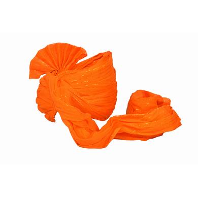 S H A H I T A J Traditional Rajasthani Jodhpuri Cotton Orange Wedding Groom or Dulha Straight Line Pagdi Safa or Turban for Kids and Adults (RT618)-18-4