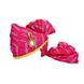 S H A H I T A J Traditional Rajasthani Jodhpuri Cotton Pink Lehariya Wedding Groom or Dulha Pagdi Safa or Turban for Kids and Adults (RT620)-ST744_22andHalf-sm