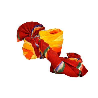 S H A H I T A J Traditional Rajasthani Jodhpuri Cotton Multi-Colored Wedding Groom or Dulha Pagdi Safa or Turban for Kids and Adults (RT622)-18-3