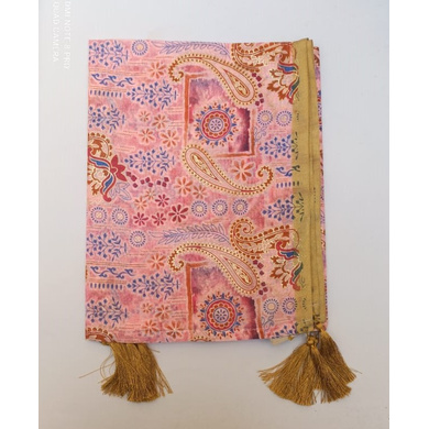 S H A H I T A J Traditional Rajasthani Wedding Pink Silk Printed Stole/Dupatta/Shawl for Groom or Dulha (DS635)-ST760