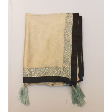 S H A H I T A J Traditional Rajasthani Wedding Golden Silk Stole/Dupatta/Shawl for Groom or Dulha (DS637)-ST762