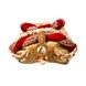 S H A H I T A J Designer Maharani Brocade & Velvet Designer Red & Golden Women & Girls Pagdi Safa or Turban with Beautiful Pearls (DT641)-ST767_22-sm