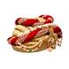 S H A H I T A J Designer Maharani Brocade & Velvet Designer Red & Golden Women & Girls Pagdi Safa or Turban with Beautiful Pearls (DT641)-18-3-sm