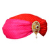 S H A H I T A J Designer Pink & Red Silk Girls and Women Designer Dotted Pagdi Safa or Turban for Fashion Shows & Events (DT645)-18-3-sm