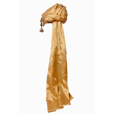 S H A H I T A J Designer Golden Silk Kids and Adults Pagdi Safa or Turban for Fashion Shows & Events (DT643)-18-4