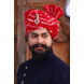 S H A H I T A J Traditional Rajasthani Wedding Barati Red Bandhej Cotton Udaipuri Pagdi Safa or Turban for Kids and Adults (CT159)-ST239_18-sm