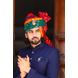 S H A H I T A J Traditional Rajasthani Wedding Barati Multi-Colored Cotton Pachrangi Bandhej Jodhpuri & Rajputi Pagdi Safa or Turban for Kids and Adults (CT198)-ST278_18-sm