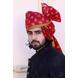 S H A H I T A J Traditional Rajasthani Wedding Barati Chanderi Silk Printed Jodhpuri & Rajputi Maroon Foil Pagdi Safa or Turban for Kids and Adults (CT230)-ST310_18-sm