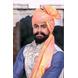 S H A H I T A J Traditional Rajasthani Wedding Barati Chanderi Silk Printed Peach Foil Jodhpuri Pagdi Safa or Turban for Kids and Adults (CT669)-ST795_18-sm