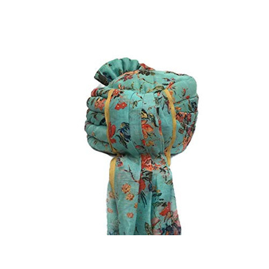 S H A H I T A J Traditional Rajasthani Wedding Barati Floral Sea Green Silk Pagdi Safa or Turban for Kids and Adults (RT673)-18-4