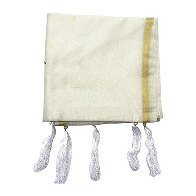 S H A H I T A J Traditional Rajasthani White Barati/Groom/Social Occasions Silk Pagdi Safa Turban or Pheta Cloth for Kids and Adults (CT677)-ST797